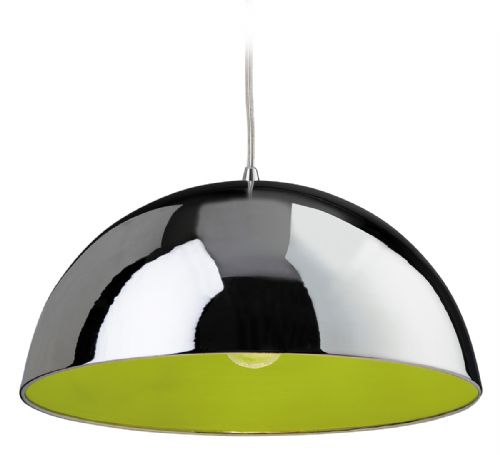 Firstlight 8622CHGN Chrome with Green Inside Bistro Pendant